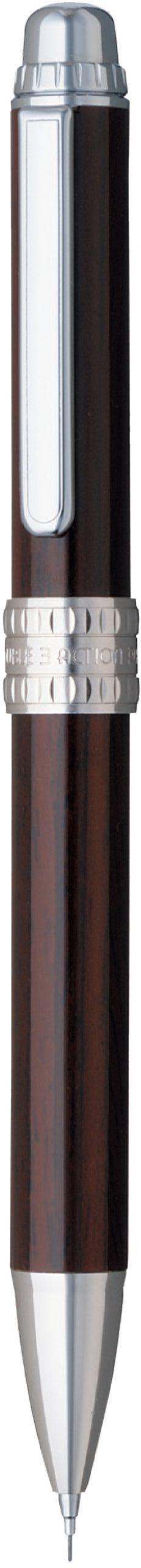 ダブル 3 アクション 木製 ウォールナット