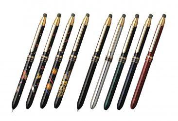 和柄の近代蒔絵を軸に装飾したタッチペンを新発売。 多機能筆記具で紙もスマホもこれ一本でOK!